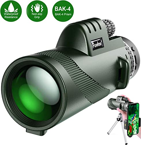 Pankoo Monocular Telescopes 40×60 High Power Prism Monocular HD Dual Focus Scope for Bird Watching,Wildlife,Traveling,Concert,Sports Game,Gifts for Adults with Phone Adapter Tripod