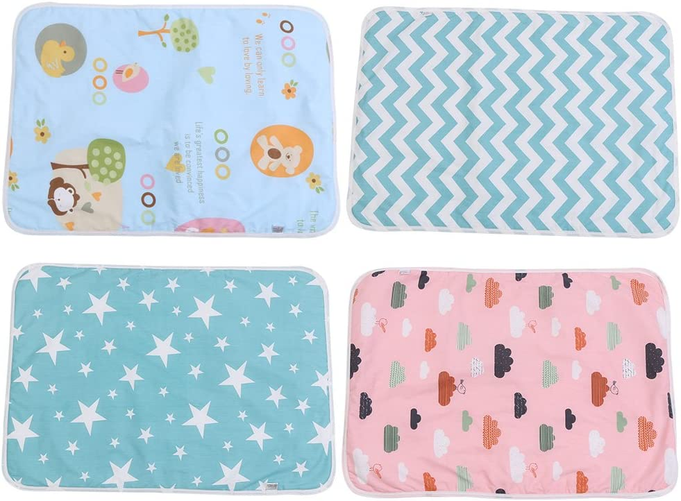 Ultra-Soft Large Washable Baby Changing Pad Mats Baby Cotton Urine Mat Diaper Nappy Bedding Changing Cover Pad Disposable Sanitary Baby Infant Toddler Diaper Liners Covers #C Dream Stars