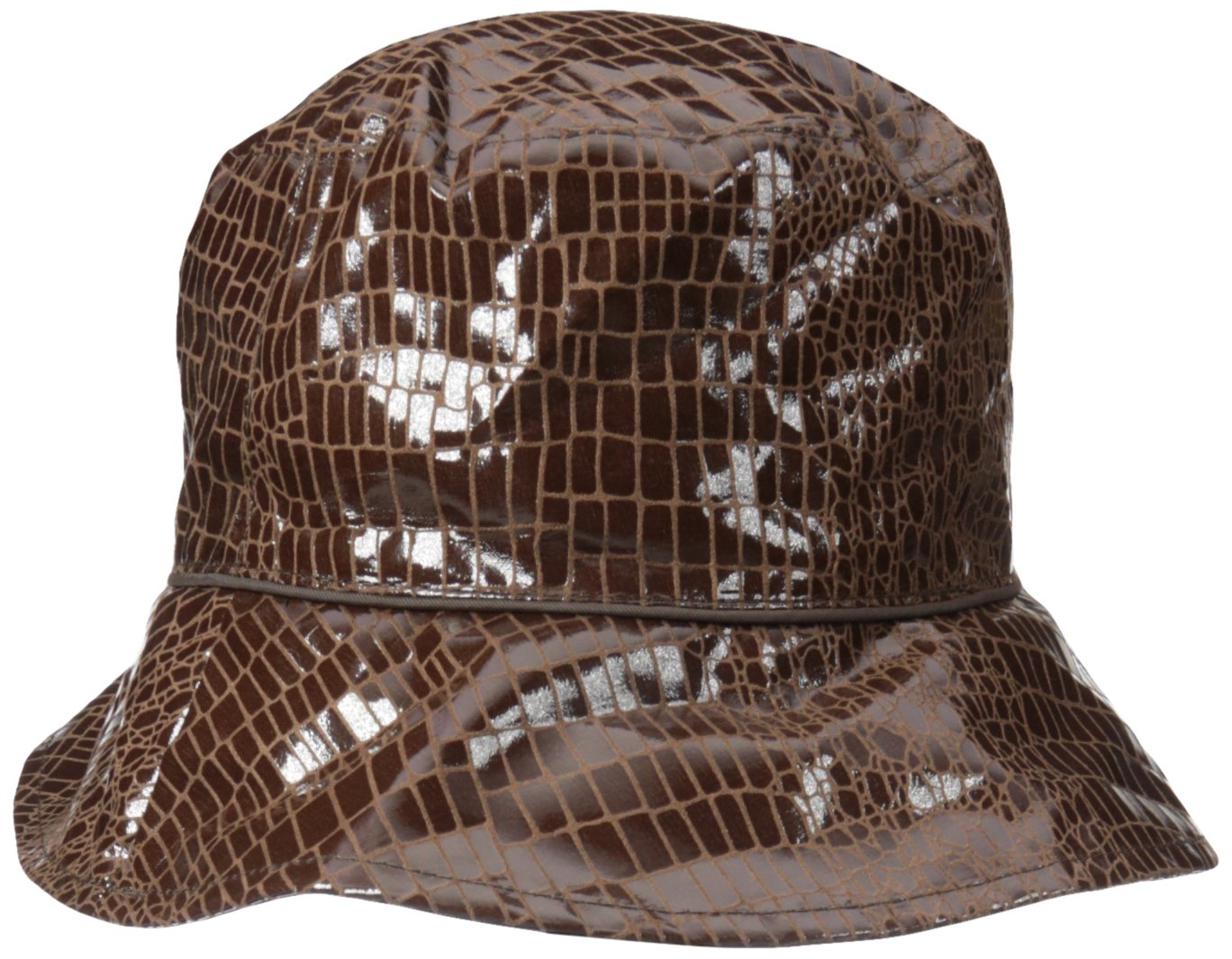 Nine West Women's Reversible Bucket Rain Hat, Brown, One Size