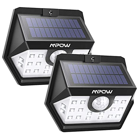 Mpow Luz Solar 500lm, 20 LED Lámpara Solar de Exterior, 270º Gran Angular de