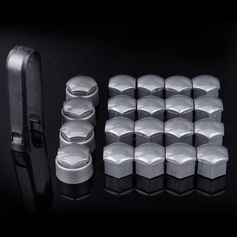 16 bouchons hexagonaux pour /écrous de roue 17 mm 4 capuchons de verrouillage noir outil de d/émontage universel pour toutes les voitures