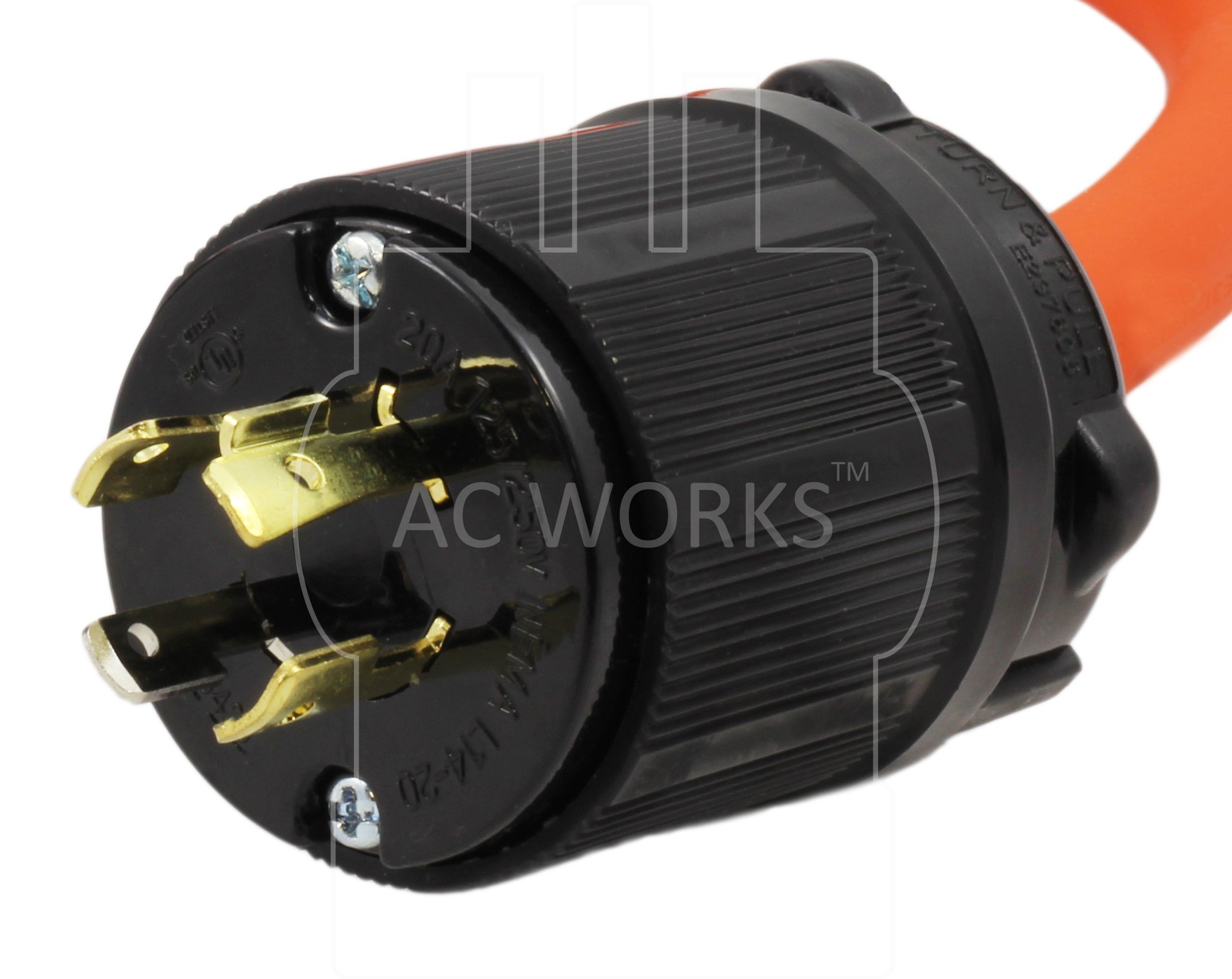 AC WORKS 6-50 Welder Adapter (L14-20 20A 4-Prong Locking to 6-50) by AC WORKS (Image #2)