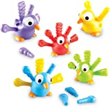 Learning Resources Fine Motor Peacock Pals, Fine Motor Toddler Toy, Sorting Set, Set of 5, Ages 18 mos+