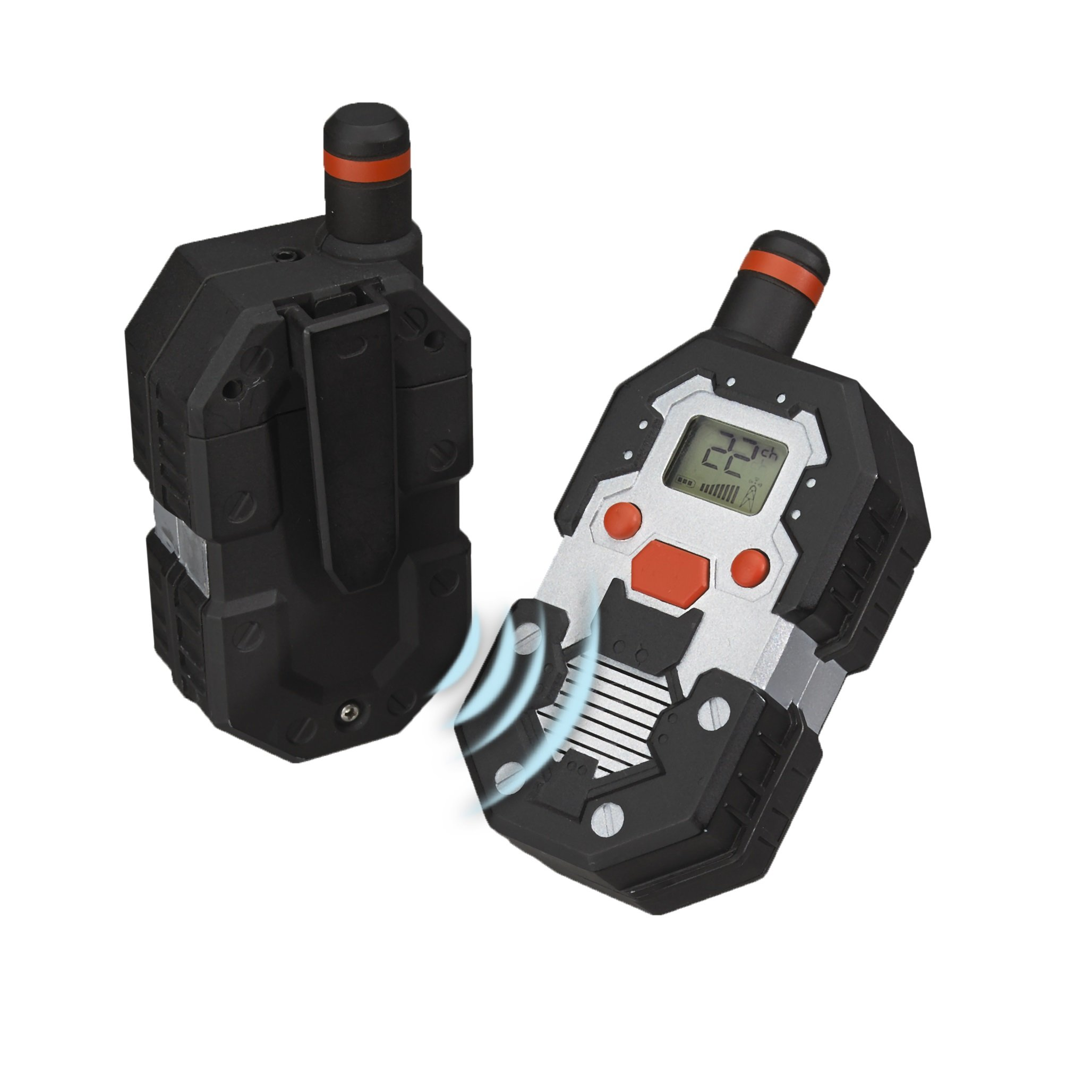SpyX / Long Range Walkie Talkies - Walkie Talkie Set with Up To 2 Mile Range! 22-Channel Scan Feature makes this the Perfect addition for your spy gear collection! by MUKIKIM