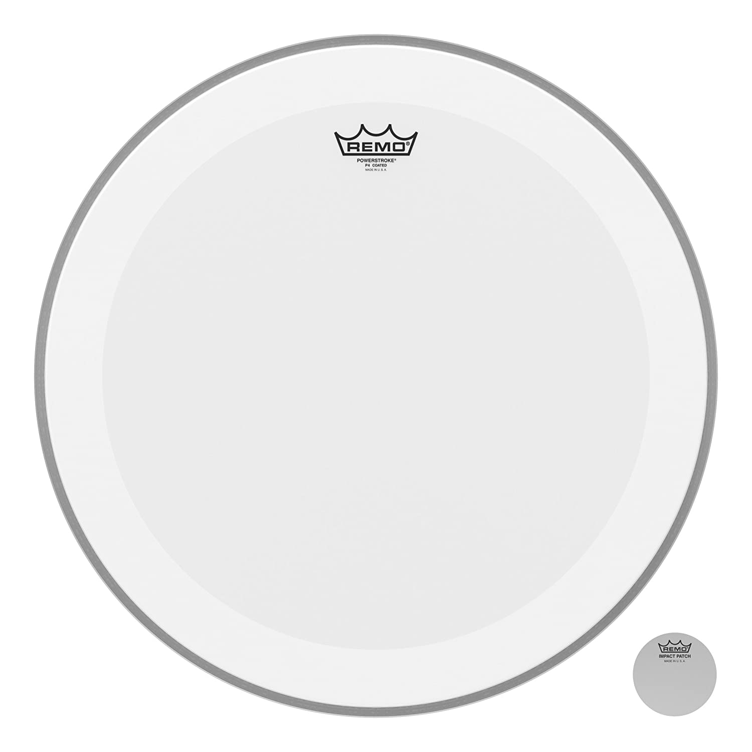 Remo Coated Powerstroke 4 Bass Drum Head (Dot On Top), 20-inch P4-1120-C2