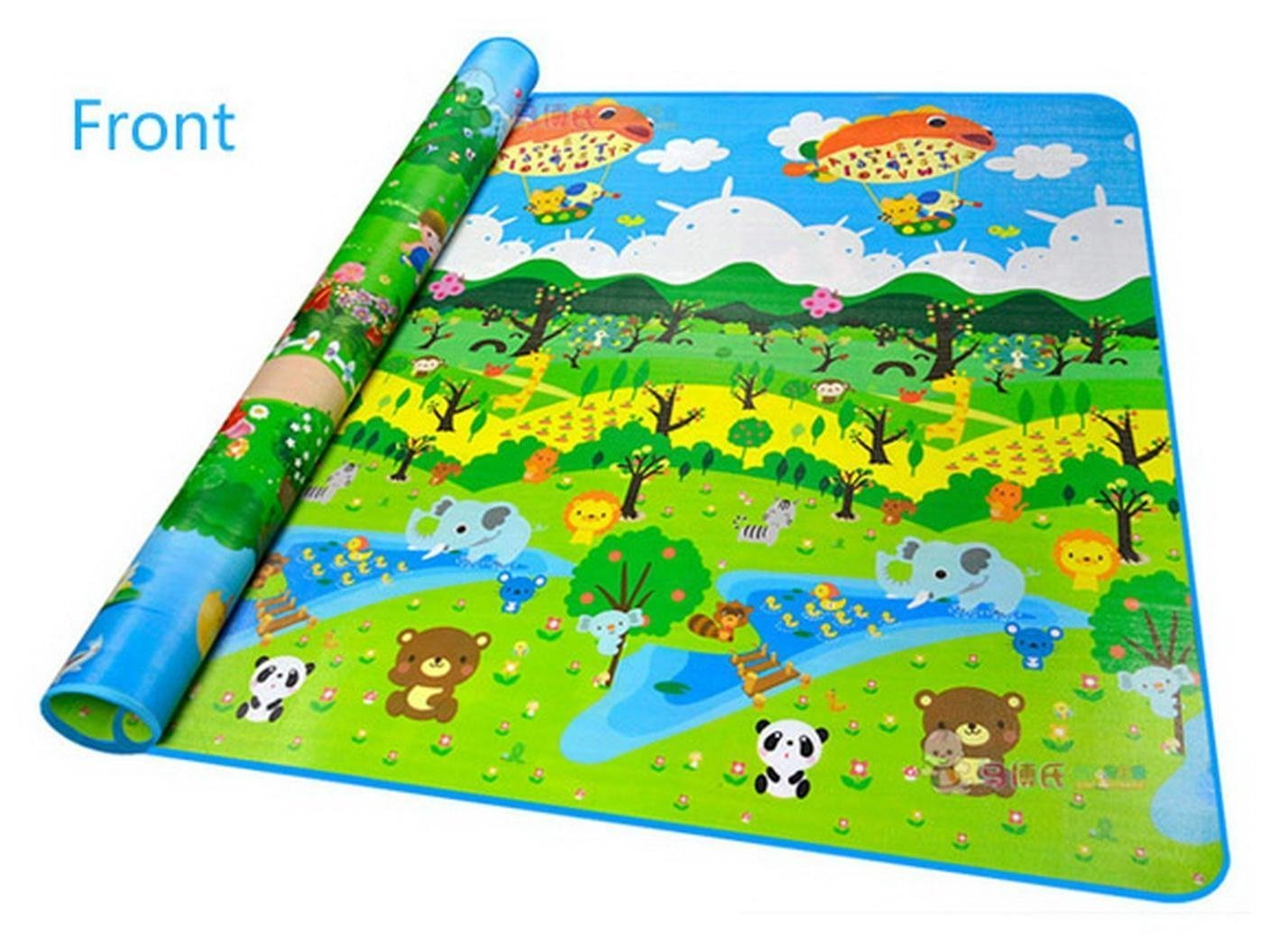 Baby Playing Mat Ocean Animal Crawling Floor Pad with Carring Bag [US Stock] (2) by Rateim (Image #2)