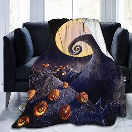HUADIZ Nightmare Before Christmas Blanket All Season Super Soft Cozy Bed Sofa Blanket Air Conditioner Quilt 50X40 Inch