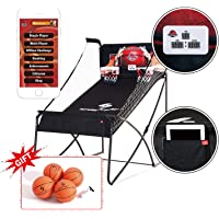"""Sportcraft Online App+ Electronic Basketball Double Hoop Shot Arcade, Heavy Duty 1 1/4"""" Tube ,Built in bluetooth, with…"""