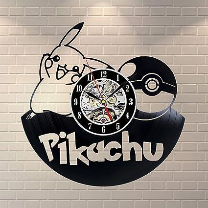 YI FLY Reloj De Etileno Tema De La Historieta Linda Moderna Vinilo Registro De Vinilo Reloj