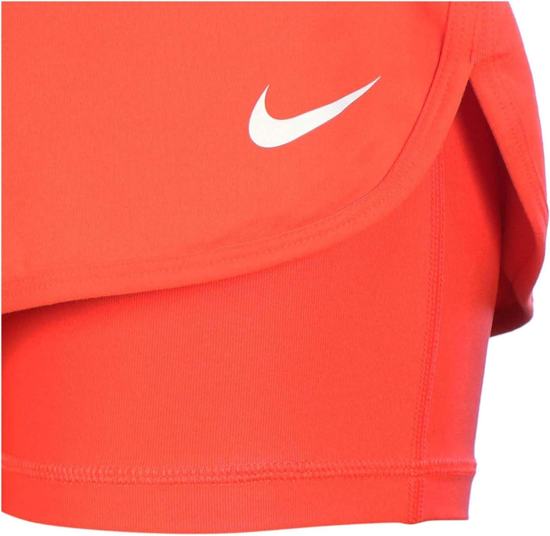 Nike Pure Skirt-Gonna da Donna Rojo / Blanco (LT CRIMSON/WHITE)