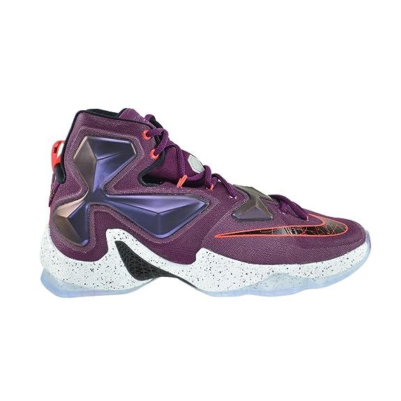 size 40 287a7 7f794 Amazon.com   Nike Lebron XIII Men s Basketball Shoes Mulberry Black-Purple  Platinum Vivid Purple 807219-500   Basketball
