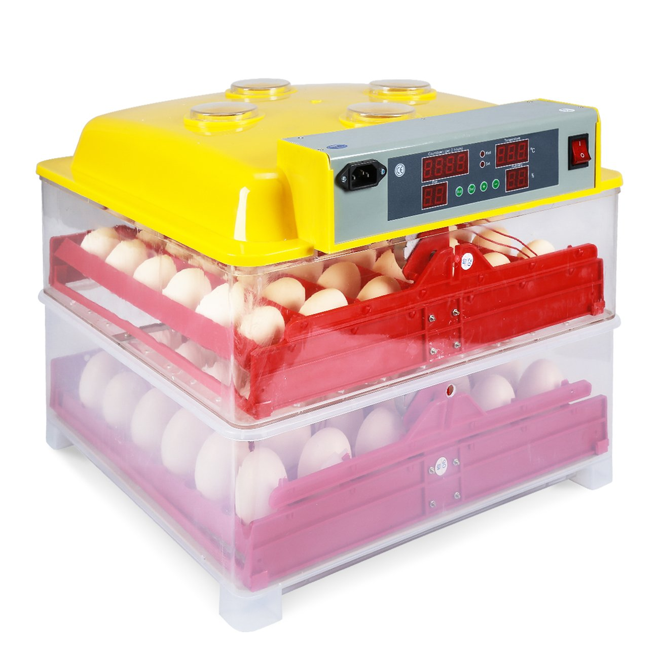 ARKSEN 288 Quail Egg Incubator | Poultry Hatcher | Auto Turner | Digital Controls | Water Channels | 72 Chicken Eggs by ARKSEN (Image #2)