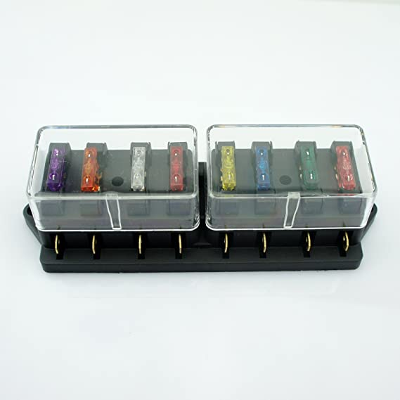 Universal Auto Kfz Pkw 8 Wege 40a Atu Standard Sicherungen Sicherungskasten Sicherungshalter Elektroverkabelung Auto