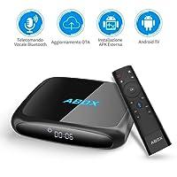 TV BOX Android 7.1 con Telecomando Vocale Goobang Doo ABOX A4 Bluetooth 4.0 / WiFi / 4k / 2GB RAM 16GB ROM