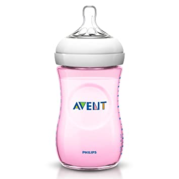 Philips Avent SCF694/17 - Biberón, tetina suave y flexible, anticólicos, PP 0% BPA, 260 ml, color rosa