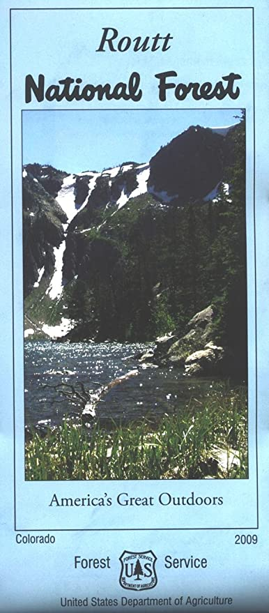 Amazon.com : Routt National Forest Map - Waterproof : Outdoor ...