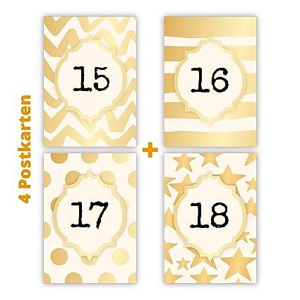 Juego de 4 puede Cumpleaños Tarjetas postales para 15 - 18 ...