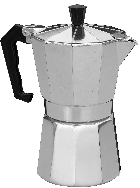 hibuy Espressokocher: Moka Espresso-Kocher für 6 Tassen, für Gas, Elektro-Herd und Ceran-Feld (Espressokocher für den Herd) für Gas