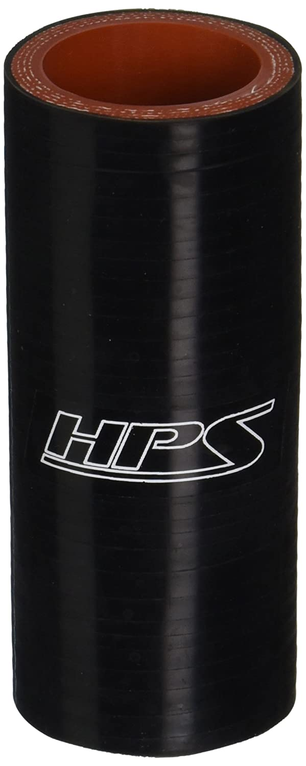 """HPS HTSC-125-L4-BLK Silicone High Temperature 4-ply Reinforced Straight Coupler Hose, 100 PSI Maximum Pressure, 4"""" Length, 1-1/4"""" ID, Black"""