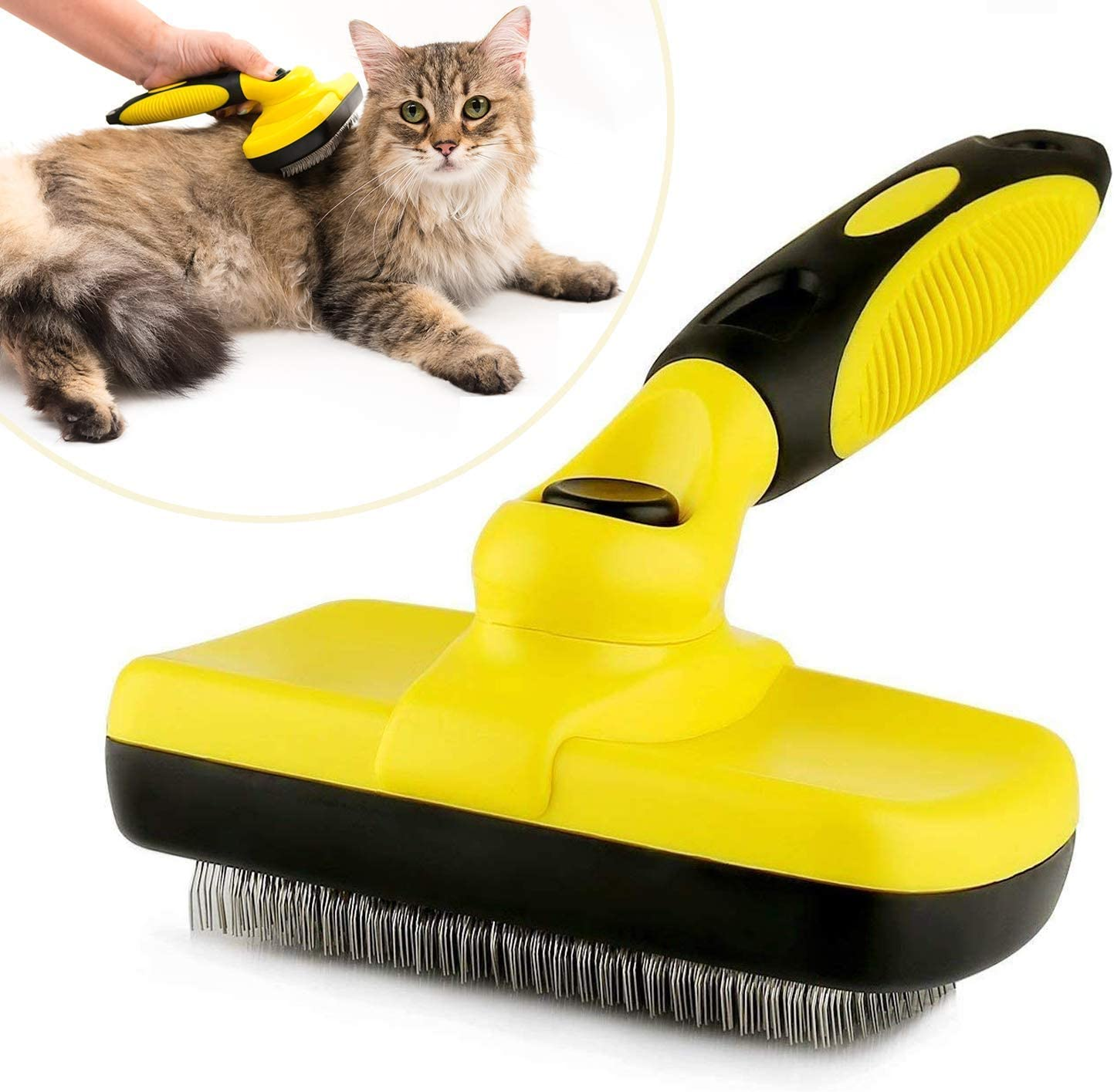 Mats and Tangled Hair for Short and Long Hair Gently Removes Loose Undercoat UPSKY Dog Brush Self Cleaning Dog Slicker Brush Pet Grooming Shedding Tool Brush Cat Brush
