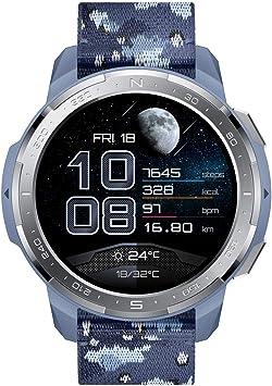 HONOR Watch GS Pro - GPS Multideporte Smartwatch con Cuerpo Resistente y Resistente, 48mm, 25-Día Batería duración, AMOLED de 1,39 Pulgadas, frecuencia cardíaca, IP68 para Hombre Mujer (Azul)