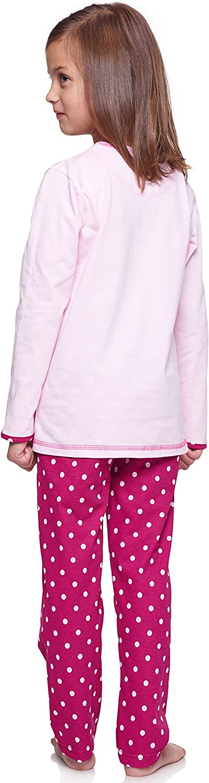 Merry Style Pijamas Conjunto Camisetas Mangas Largas y Pantalones Largos Ropa de Dormir de Cama Interior Lencer/ía Ni/ña 1162//1163