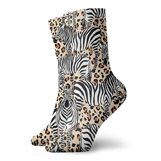 cc5490c2000 Image Unavailable. Image not available for. Color  Zebra Black And White  Pattern Personalized Socks ...
