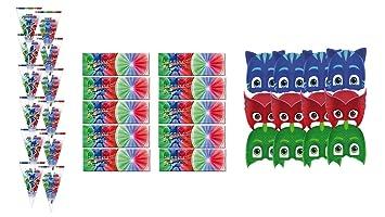 PJ Masks 2428; Pack Fiesta y cumpleaños Compuesto por 12 ...