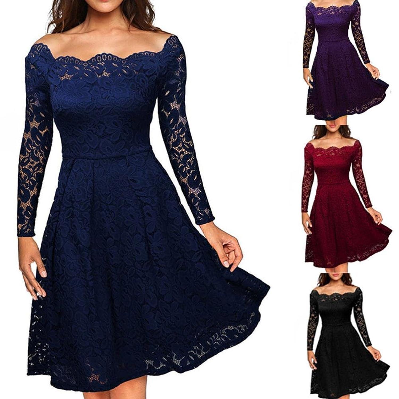 Lange Kleid Damen, Sunday Hochzeit Freizeit Täglich Frauen Vintage ...