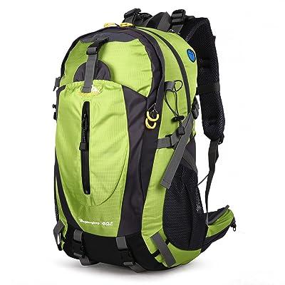 EVERGO Sac à Dos pour Randonnée Alpinisme Sac de Voyage Sport Grand Vert