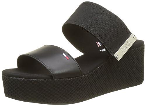 98f6895d7d750 Tommy Jeans Women s s Material Mix Flatform Sandal Platform  Amazon ...