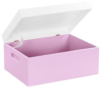 Hojas Lust – Caja de Madera para Guardar en tamaño m – Pino Rosa/Blanco