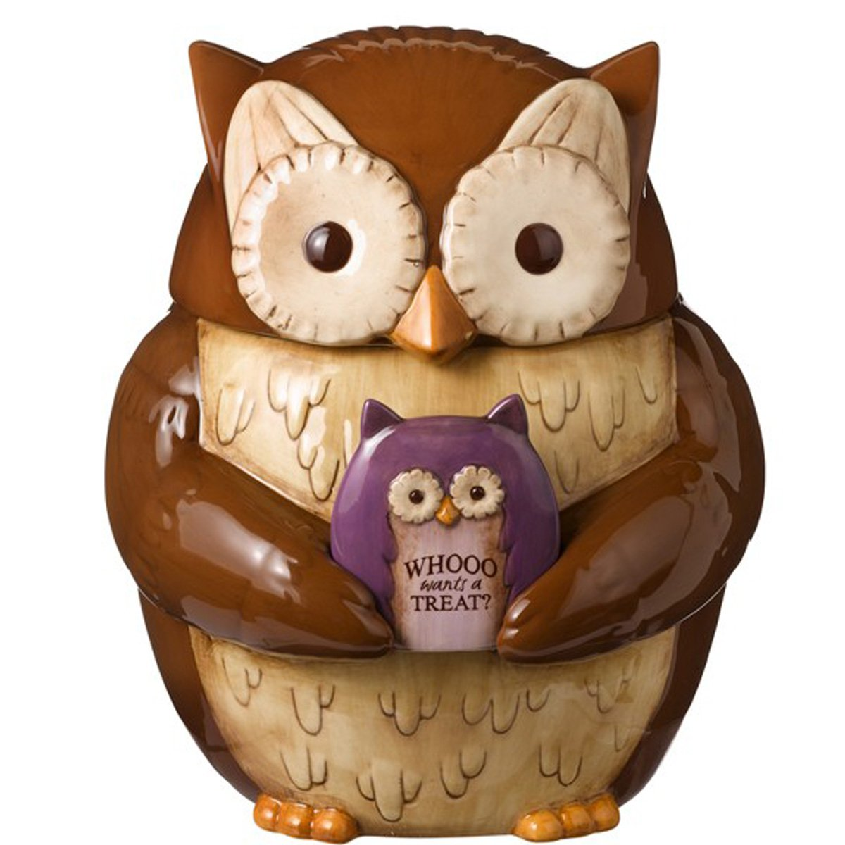 Grasslands Road Crimson Hallow Owl Cookie Jar # 469447