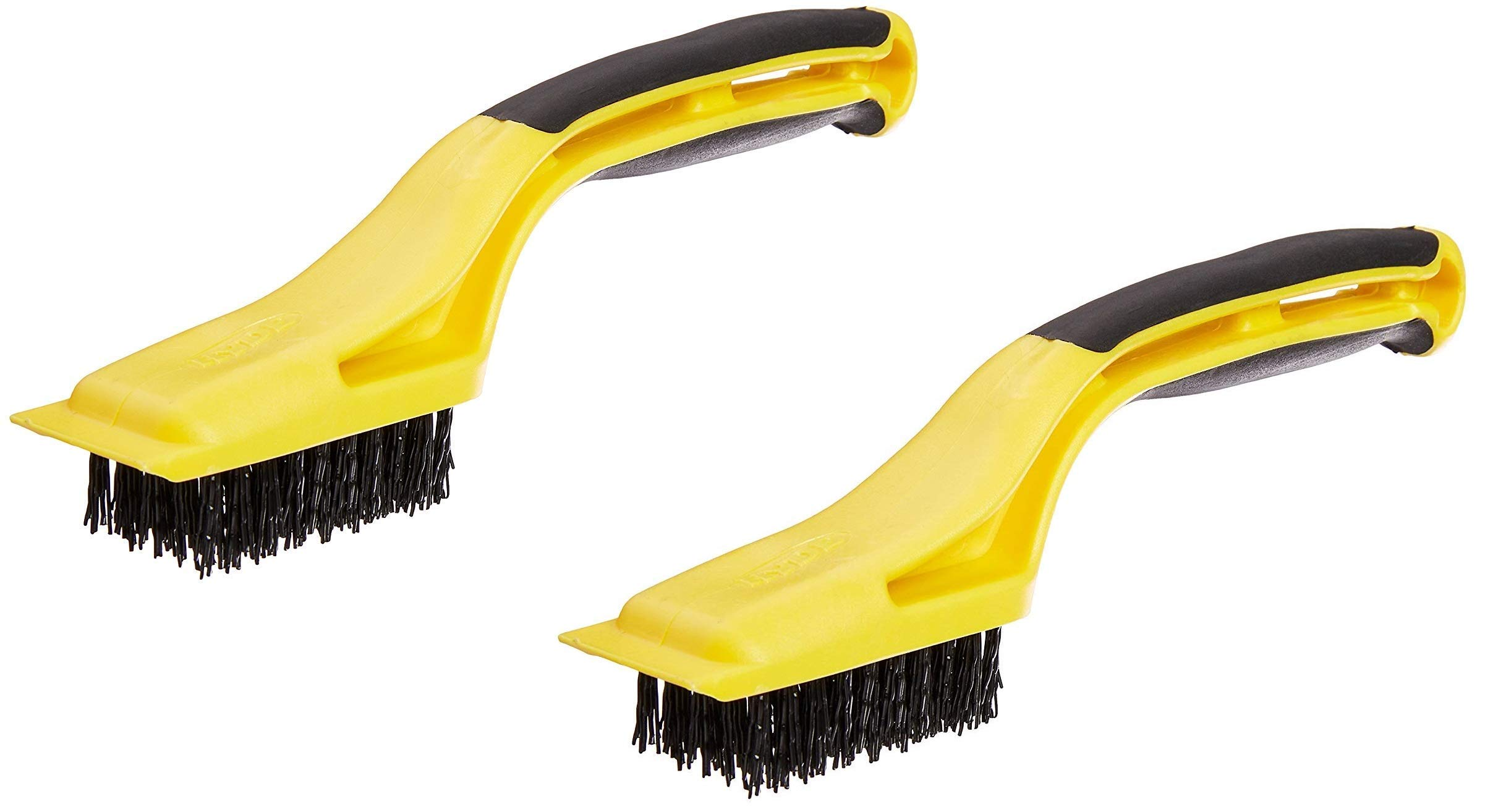 Hyde Tools 46804 Flexible Nylon Stripping Brush with Plastic Scraper and 1-1/8-Inch x 2-1/4-Inch Brush Area (2) by Hyde Tools