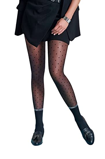 moderate cost up-to-datestyling sale retailer Pois 30 Denier Premium Quality Polka Dots Fashion Tights at ...