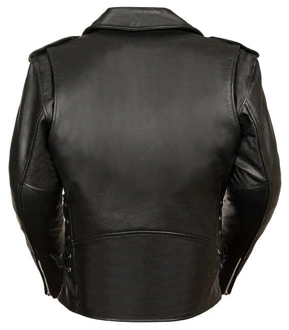 Classic Biker Jacket Half Belt & Side Laces