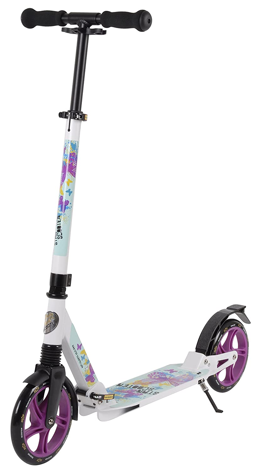 Star-scooter Premium City Scooter 205mm Wheel Size Full Suspension Edition White & Turquoise