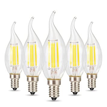 Albrillo chandelier light bulbs e12 led bulb 4w 40 watt equivalent albrillo chandelier light bulbs e12 led bulb 4w 40 watt equivalent warm white 2700k aloadofball Gallery