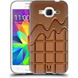 Head Case Designs Chocodrip Chocolat Étui Coque en Gel molle pour Samsung Galaxy Core Prime