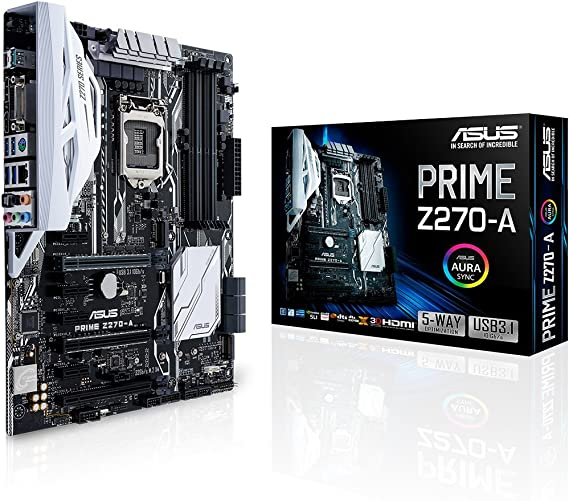 ASUS PRIME Z270-A LGA1151 DDR4 DP HDMI DVI M.2 USB 3.1 Z270 ATX Motherboard (Renewed)