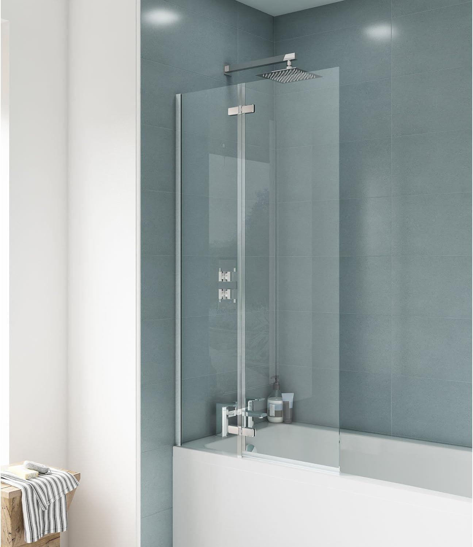 Mampara de baño de diseño recto de Premier ERSS1, modelo Ella ...