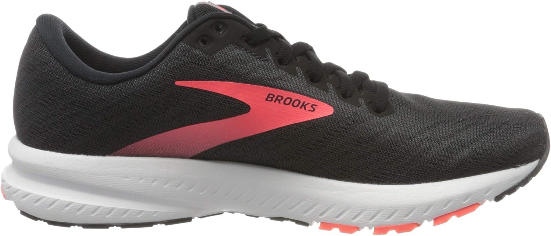 Brooks Women's Launch 7 Running Shoe Ebony Black Coral