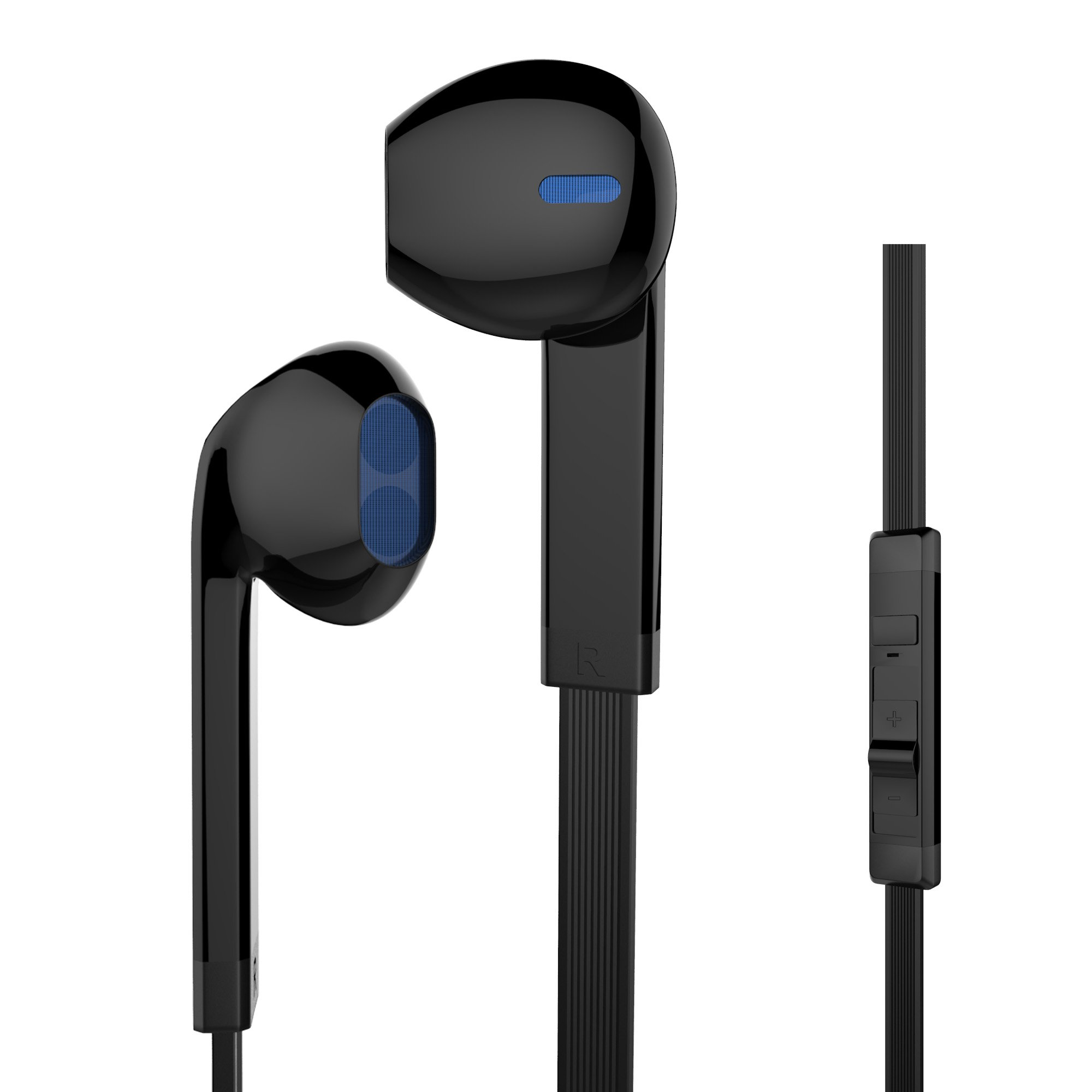 MXditect EB166 Headphones with Mic Stereo Earphones for iOS Android Windows System, Black