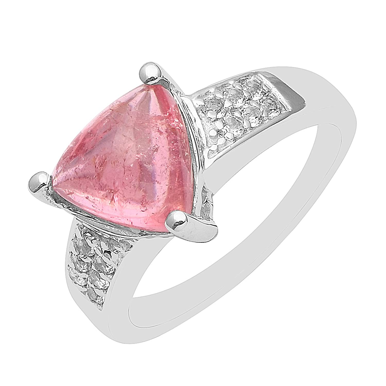 Amazon.com: Triangle 2.5 CT. Pink Tourmaline Trillion Gemstone 925 ...