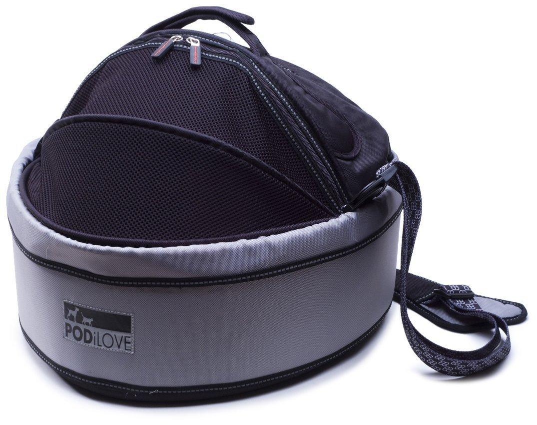 PetEgo Pod iLove Pet Carrier, Black/ Grey