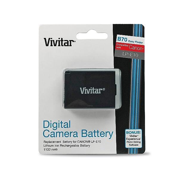 VIVITAR LP-E10 BATERÍA PARA CANON REBEL T3 T5 T6 EOS 1100D 1200D 1300D