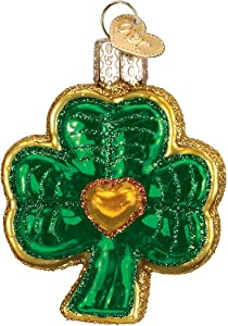Old World Christmas Irish Gift Collection Glass Blown Ornaments for Christmas Tree Shamrock