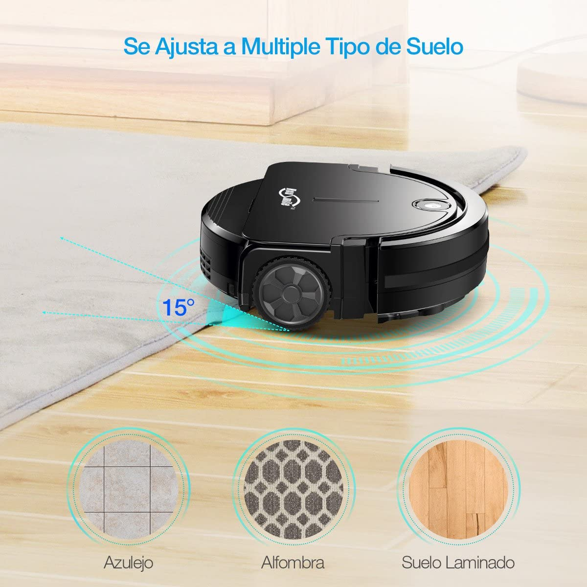 Housmile Robot Aspirador de Limpieza con Sensores Inteligentes,2 ...