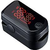 Oxímetro de Pulso Digital, Mpow Oxímetro de Pulso con pantalla LED de 1.1 '', Pulsioxímetro de Dedo sensor de oxígeno de lectura instantánea y monitor de frecuencia de pulso Aprobado por FDA&CE (Actualización Negra)