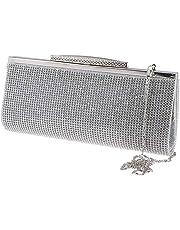 F Fityle Ladies Sparkling Evening Party Prom Clutch Bridal Bag Purse Diamante Rhinestone Handbag